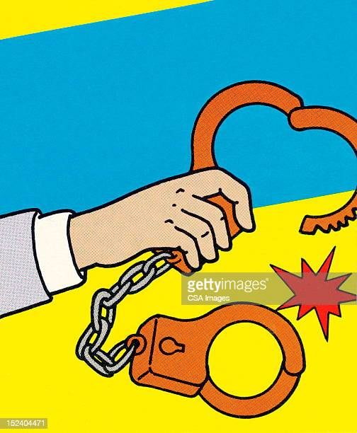 handcuffs - arrest stock illustrations, clip art, cartoons, & icons
