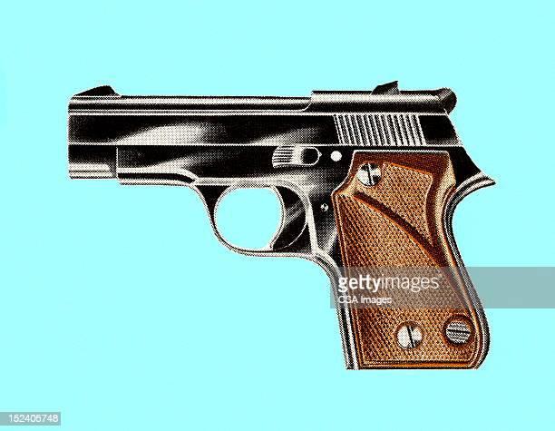 handgun - murder stock illustrations, clip art, cartoons, & icons