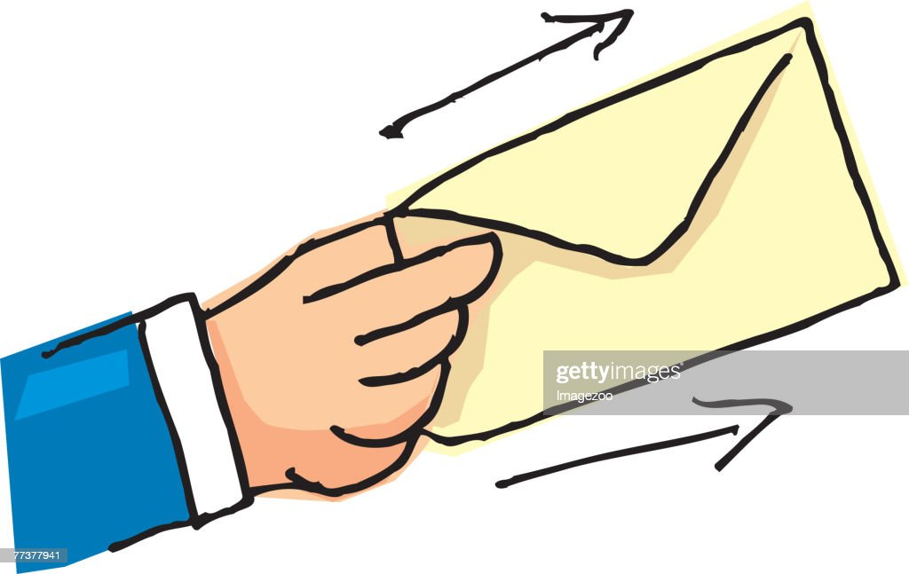 handing over an envelope : Illustration