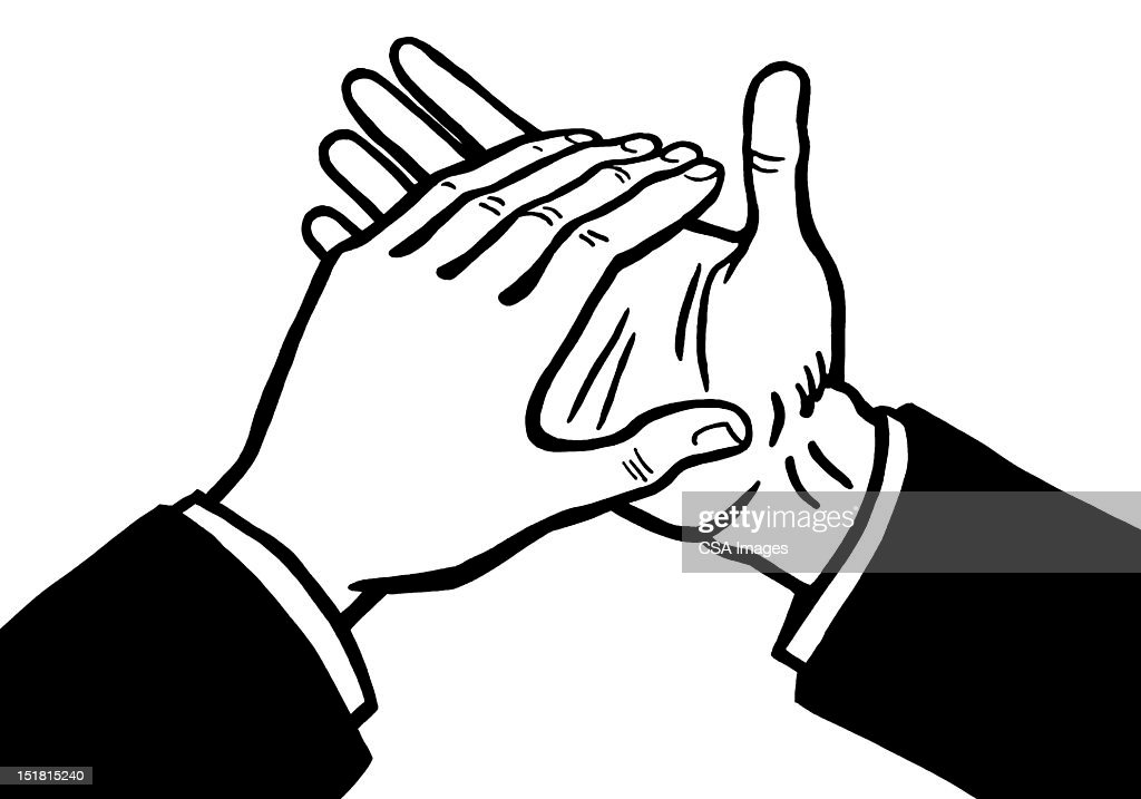 Hands Clapping : Stock Illustration