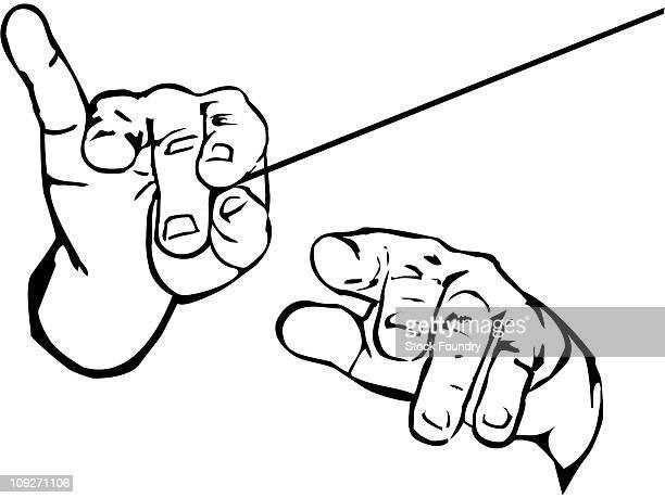 ilustraciones, imágenes clip art, dibujos animados e iconos de stock de hands conducting music - director de orquesta