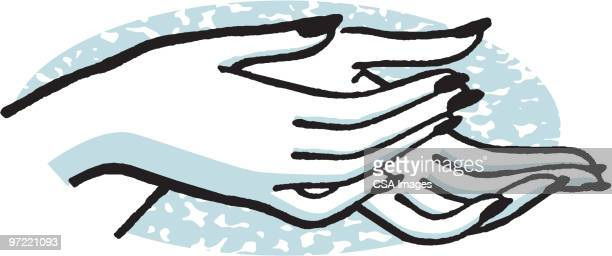 hands - receiving stock illustrations