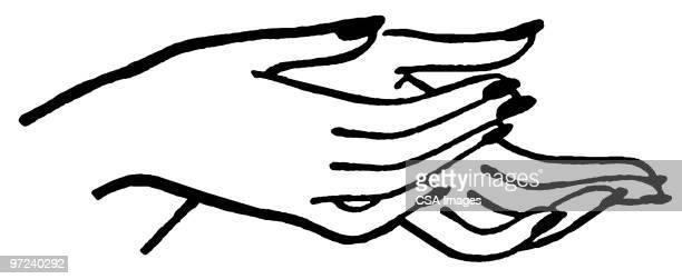 hands - receiving stock illustrations