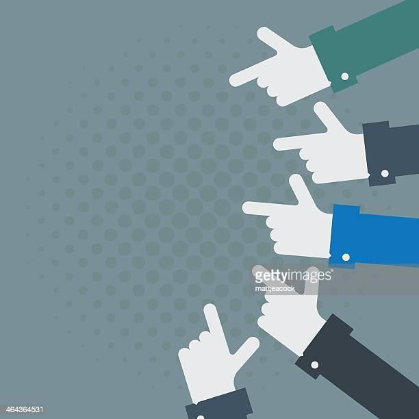 ilustraciones, imágenes clip art, dibujos animados e iconos de stock de mano apuntando para copiar espacio - miembro humano