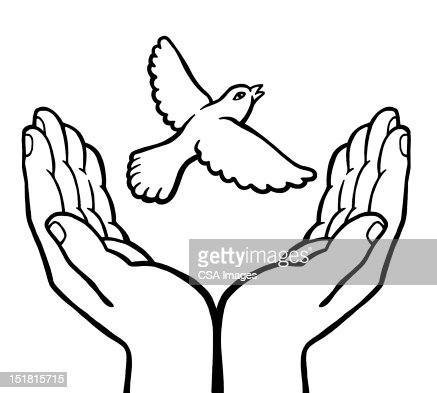 Hands Releasing Bird Stock Illustration | Getty Images