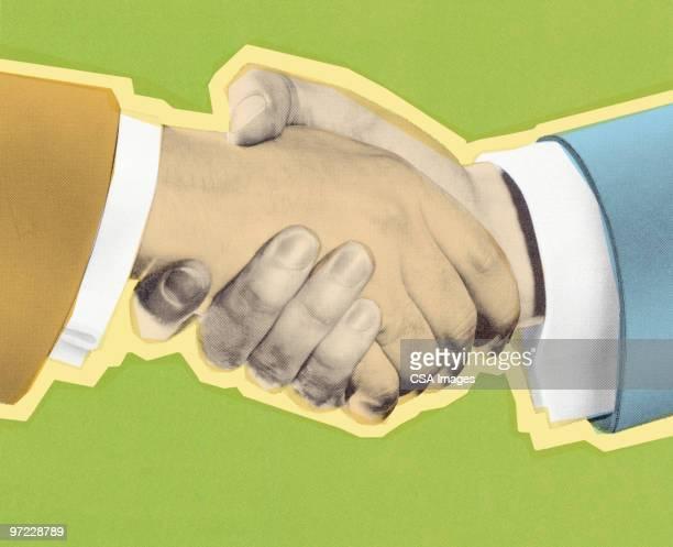 handshake - approval stock illustrations, clip art, cartoons, & icons