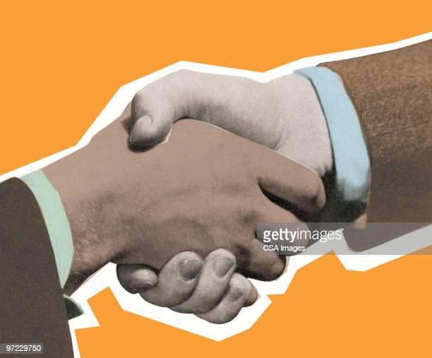 handshake - interview stock illustrations, clip art, cartoons, & icons