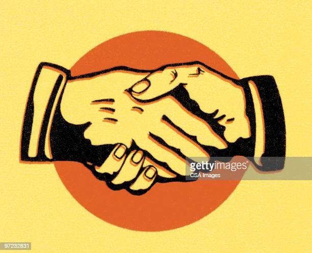 handshake - ambassador stock illustrations