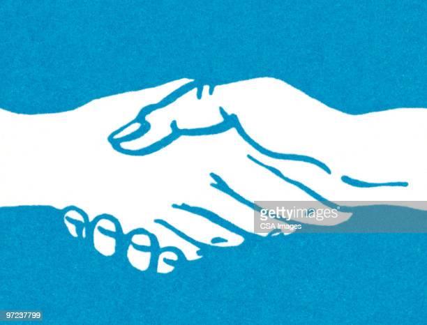 handshake - two people stock illustrations