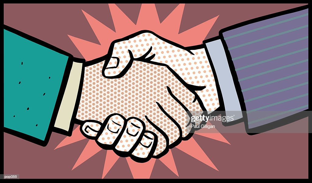 Handshake : Stockillustraties