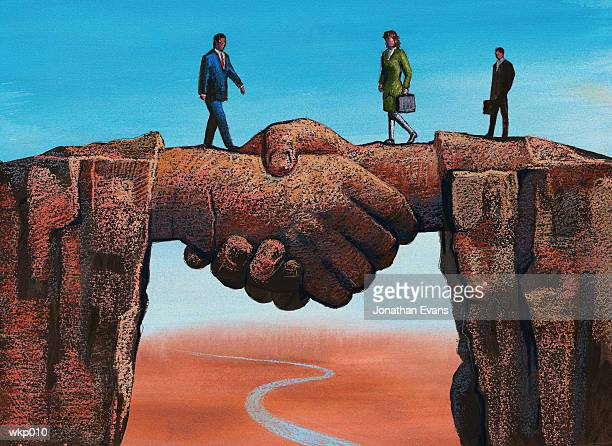 Handshake Spanning Chasm