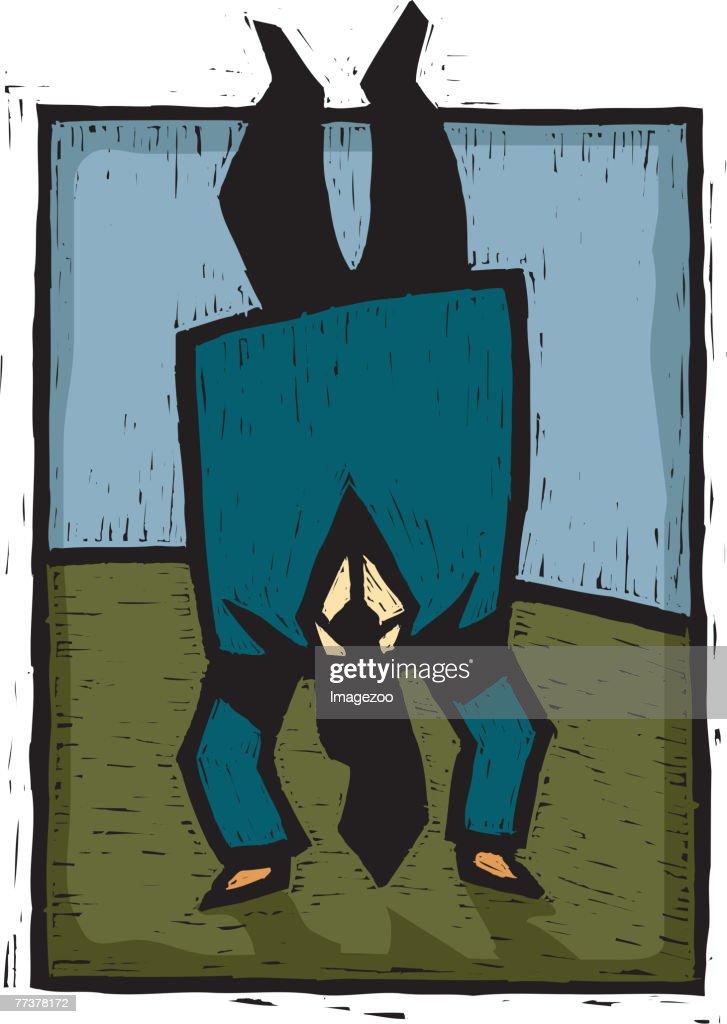 handstand : Illustration