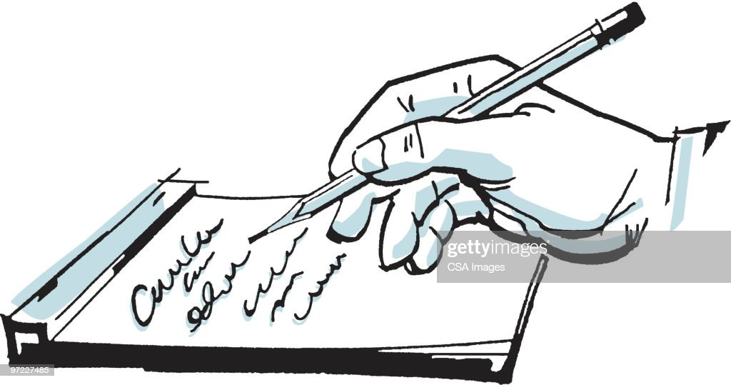Handwritten Note : Stock Illustration