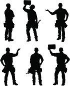 Handy man silhouettes