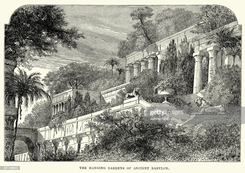 Hanging Gardens of Babylon : Stock Illustration