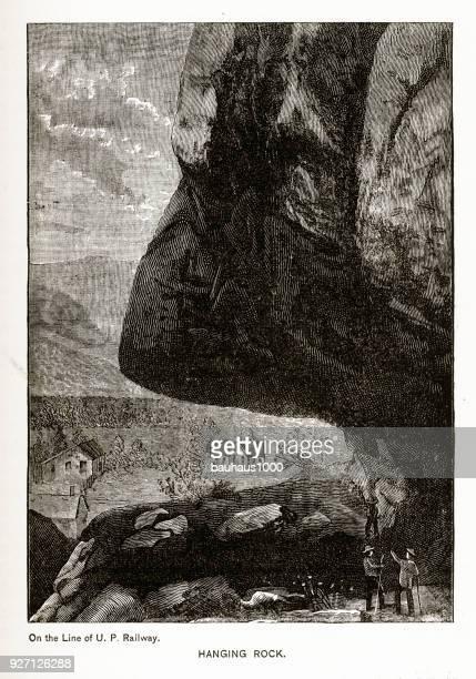 Hanging Rock, Colorado Springs, Colorado Victorian Engraving