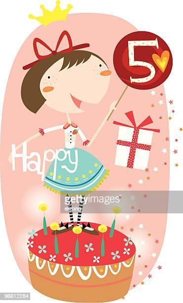 Feliz aniversário, 5 de rapariga!
