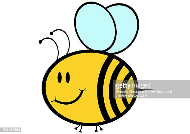 happy bee - gregoria gregoriou crowe fine art and creative photography. stock illustrations, clip art, cartoons, & icons