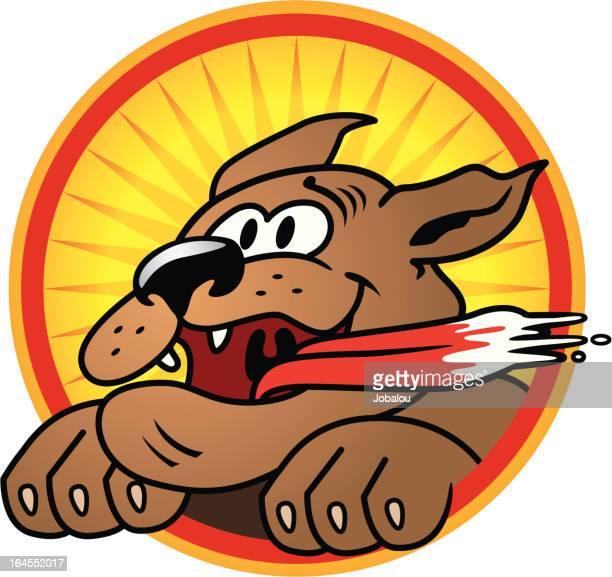 happy dog - animal saliva stock illustrations, clip art, cartoons, & icons