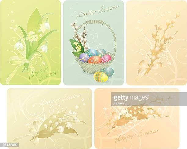 illustrations, cliparts, dessins animés et icônes de joyeuses pâques - brin muguet