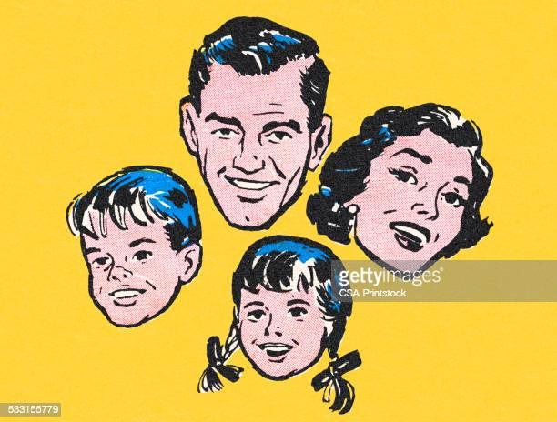 ilustraciones, imágenes clip art, dibujos animados e iconos de stock de happy familia - madre e hija