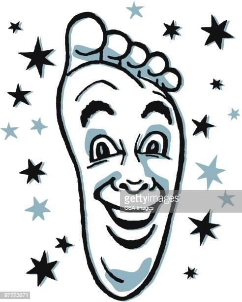 happy foot - toe stock illustrations, clip art, cartoons, & icons