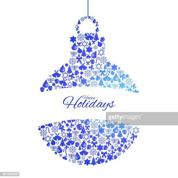 happy holidays - dreidel stock illustrations, clip art, cartoons, & icons