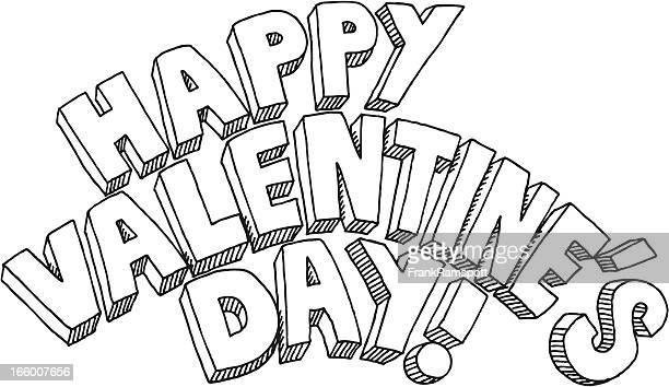 Happy Valentines Day Text-Abbildung