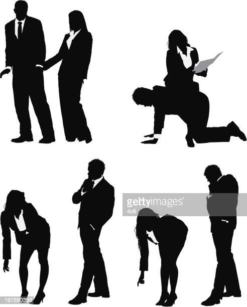 harassment in the office - sexual harassment stock illustrations, clip art, cartoons, & icons