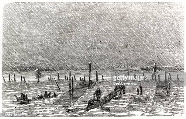 Hard rain on fishermen on the yukon river