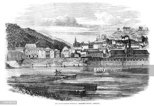 harper's ferry, virginia - protohistory_of_west_virginia stock illustrations