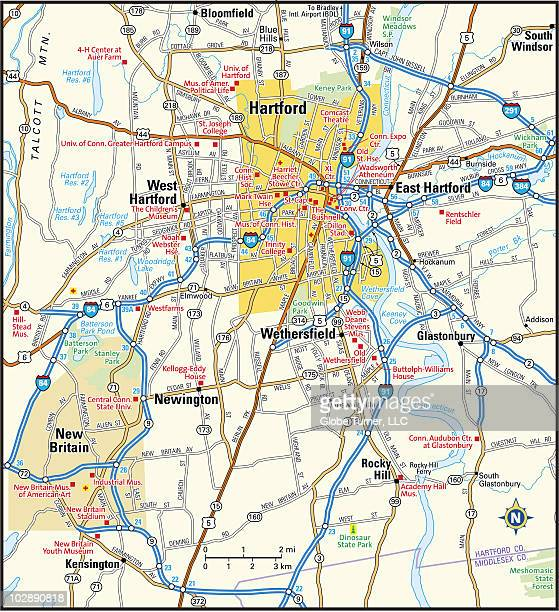 hartford, connecticut area map - コネチカット州ハートフォード点のイラスト素材/クリップアート素材/マンガ素材/アイコン素材