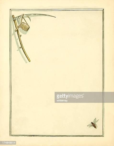 Harvest border (Victorian illustration)