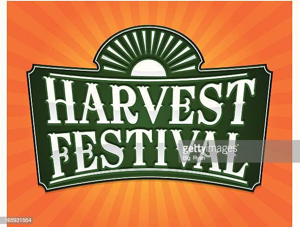 harvest festival flier - harvest festival stock illustrations