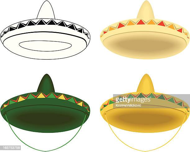 sombrero - sombrero stock illustrations