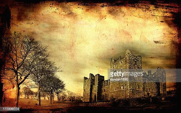 haunted castle xxl - run down stock illustrations, clip art, cartoons, & icons