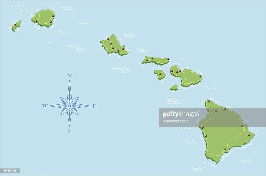 Hawaii Map Vector Art Getty Images