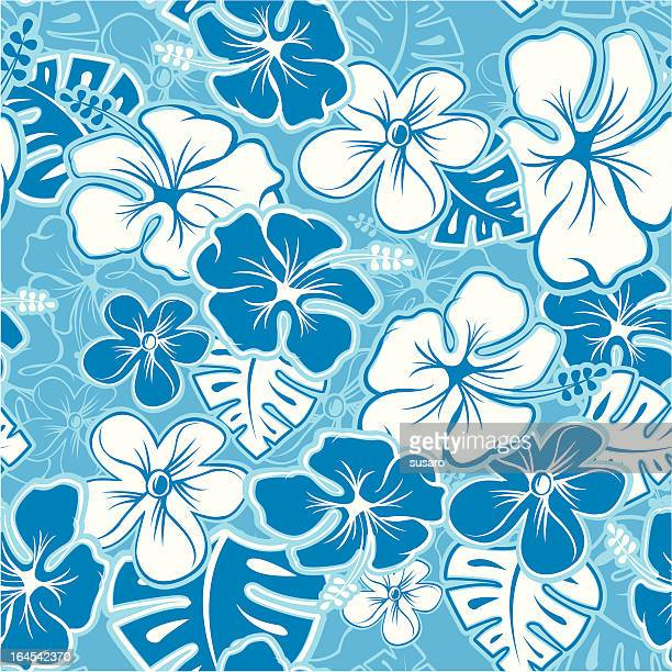hawaiian pattern - textile industry stock illustrations