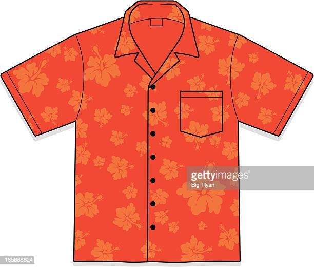 hawaiian shirt - hawaiian shirt stock illustrations