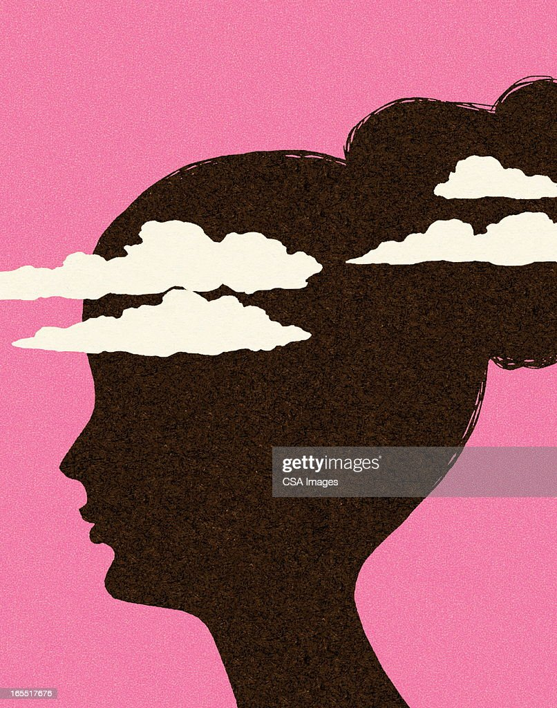 Head in the Clouds : stock illustration