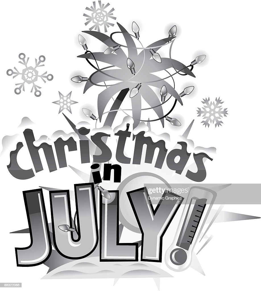 Christmas In July Clipart Black And White.Heading Christmas In July High Res Vector Graphic Getty Images