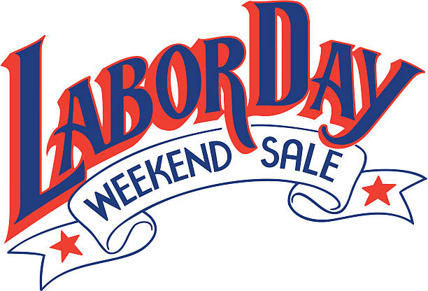 Heading, Labor Day Weekend Sale, banner and stars  Color  Illustrator Ver. 5