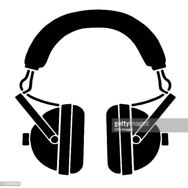 headphones - computer icon stock illustrations