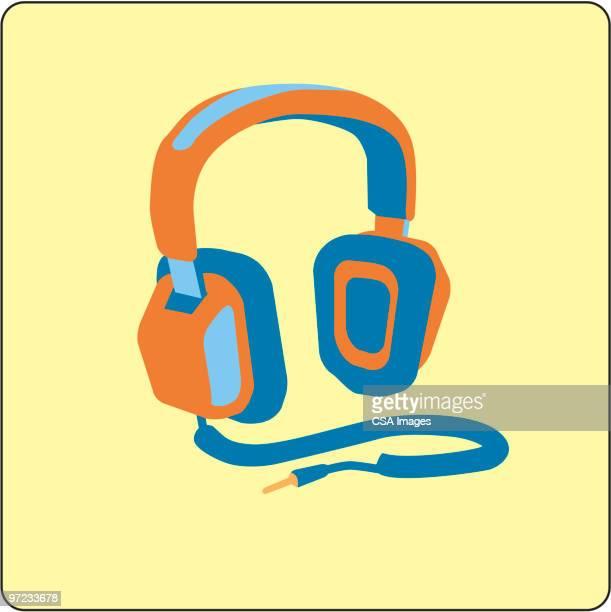 illustrazioni stock, clip art, cartoni animati e icone di tendenza di headphones - hi fi