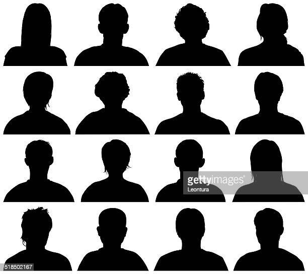 Heads and Shoulders Silhouettes