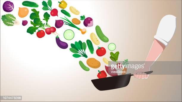 ilustrações, clipart, desenhos animados e ícones de a healthy diet - bok choy