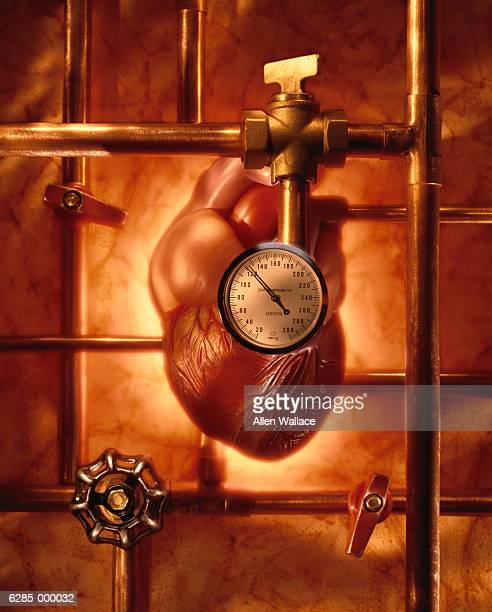 heart and pressure gauge - air valve stock illustrations, clip art, cartoons, & icons