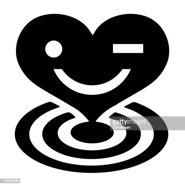 heart bullseye - sports target stock illustrations