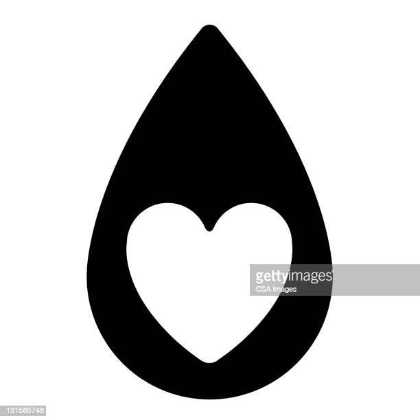 heart in droplet - teardrop stock illustrations