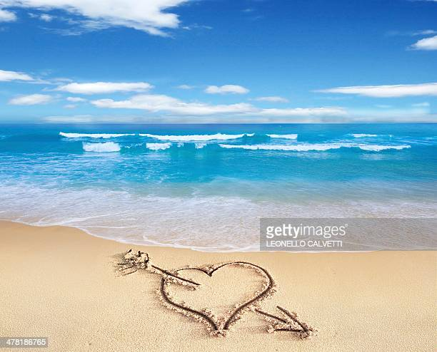 Heart in sand, artwork